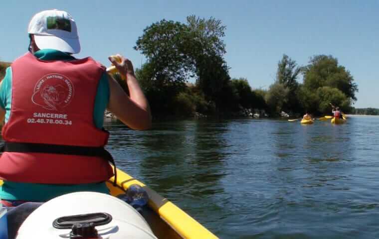 la loire en canoe proche de Sancerre