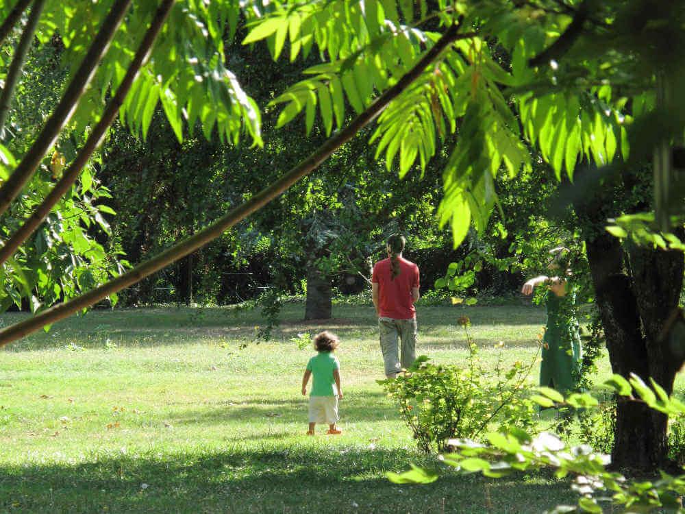 jardin du gite familial proche de Sancerre