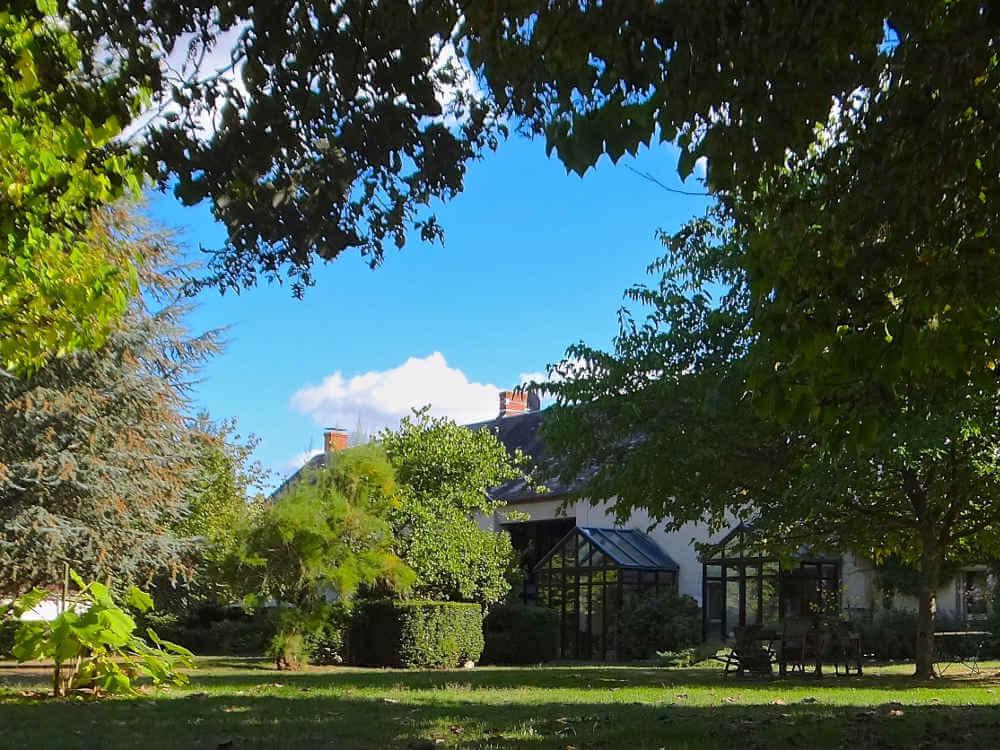jardin des chambres d'hôtes du Domaine de La Reculée