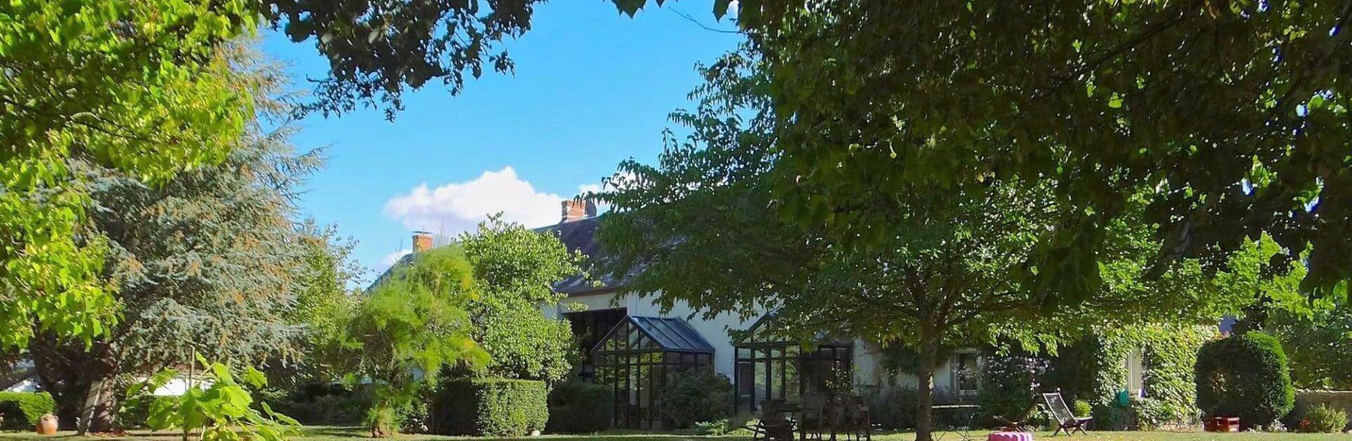 jardin du grand gite du Domaine de La Reculée